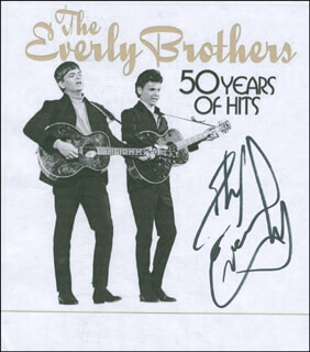 EVERLY BROTHERS (PHIL EVERLY) - PRINTED PHOTOGRAPH SIGNED IN INK