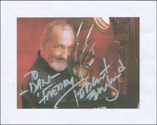 ROBERT ENGLUND - PRINTED PHOTOGRAPH SIGNED IN INK