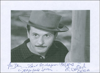 ELI WALLACH - INSCRIBED PRINTED PHOTOGRAPH SIGNED IN INK