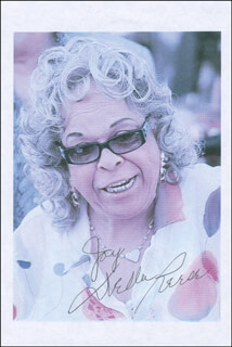 DELLA REESE - INSCRIBED PRINTED PHOTOGRAPH SIGNED IN INK