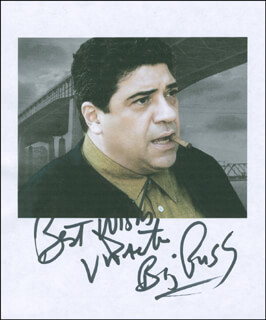 VINCENT PASTORE - PRINTED PHOTOGRAPH SIGNED IN INK
