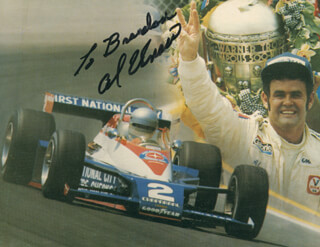 AL UNSER - INSCRIBED PICTURE POSTCARD SIGNED CIRCA 2002