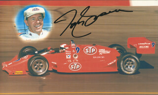 TOM SNEVA - PICTURE POST CARD SIGNED
