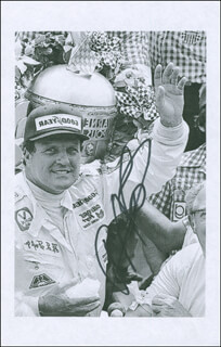 A. J. FOYT - PRINTED PHOTOGRAPH SIGNED IN INK