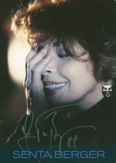 SENTA BERGER - PRINTED PHOTOGRAPH SIGNED IN INK 1981