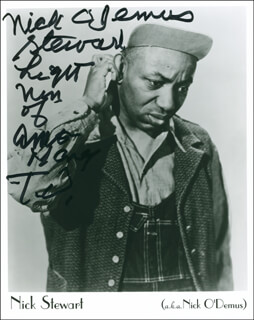 NICK (LIGHTNIN') STEWART - AUTOGRAPHED SIGNED PHOTOGRAPH