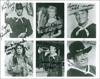 F TROOP TV CAST - AUTOGRAPHED SIGNED PHOTOGRAPH CO-SIGNED BY: MELODY PATTERSON, LARRY STORCH, KEN BERRY, DON DIAMOND, JAMES HAMPTON, JOE BROOKS