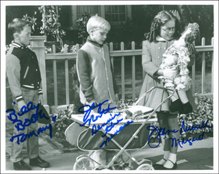 DENNIS THE MENACE TV CAST - AUTOGRAPHED SIGNED PHOTOGRAPH CO-SIGNED BY: JAY NORTH, JEANNE RUSSELL, BILLY BOOTH