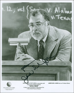 JAMES EARL JONES - AUTOGRAPHED SIGNED PHOTOGRAPH