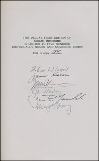 RAY BRADBURY - BOOK SIGNED CO-SIGNED BY: RAMSEY CAMPBELL, DENNIS ETCHISON, RICHARD C. MATHESON, WILLIAM F. NOLAN, JOHN MACLAY, JAMES KISNER, J.N. WILLIAMSON, JOE R. LANSDALE, MARTIN H. GREENBERG, ROBERT W. LAVOIE, RICHARD B. MATHESON