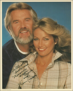 KENNY ROGERS - AUTOGRAPHED INSCRIBED PHOTOGRAPH CO-SIGNED BY: MARIANNE GORDON