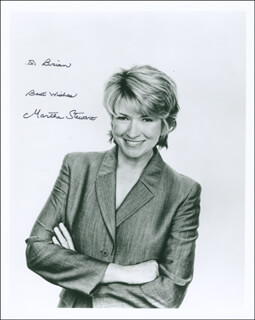MARTHA STEWART - AUTOGRAPHED INSCRIBED PHOTOGRAPH