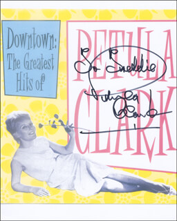 PETULA CLARK - AUTOGRAPHED INSCRIBED PHOTOGRAPH