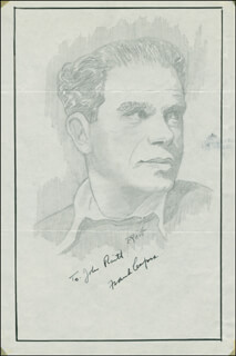 JOHN RAITT - INSCRIBED ORIGINAL ART SIGNED CO-SIGNED BY: FRANK CAPRA