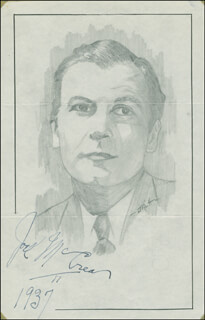 JOHN RAITT - ORIGINAL ART SIGNED 1937 CO-SIGNED BY: JOEL McCREA