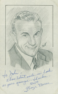 JOHN RAITT - INSCRIBED ORIGINAL ART SIGNED CO-SIGNED BY: GEORGE BURNS
