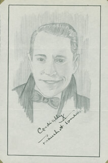 JOHN RAITT - ORIGINAL ART SIGNED CO-SIGNED BY: FRANCHOT TONE
