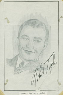 JOHN RAITT - ORIGINAL ART SIGNED CO-SIGNED BY: ROBERT TAYLOR