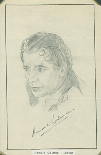 JOHN RAITT - ORIGINAL ART SIGNED CO-SIGNED BY: RONALD COLMAN