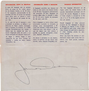 JAMES DEAN - ENVELOPE SIGNED