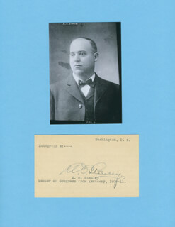 AUGUSTUS O. STANLEY - PRINTED CARD SIGNED IN INK