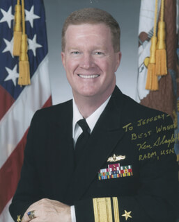 Autographs: REAR ADMIRAL KEN SLAGHT - INSCRIBED PHOTOGRAPH SIGNED