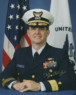 REAR ADMIRAL KEVIN J. ELDRIDGE - AUTOGRAPHED SIGNED PHOTOGRAPH