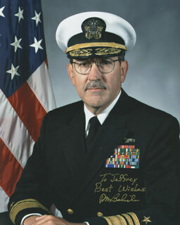 Autographs: VICE ADMIRAL PHILLIP M. BALISLE - INSCRIBED PHOTOGRAPH SIGNED