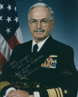 Autographs: VICE ADMIRAL WILLIAM J. HANCOCK - INSCRIBED PHOTOGRAPH SIGNED