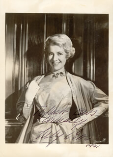 LILY PONS - AUTOGRAPHED INSCRIBED PHOTOGRAPH 1961