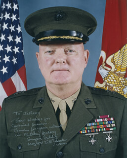 MAJOR GENERAL T.E. DONOVAN - AUTOGRAPHED INSCRIBED PHOTOGRAPH