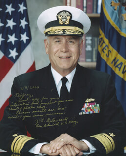 Autographs: REAR ADMIRAL JOSE BETANCORT - INSCRIBED PHOTOGRAPH SIGNED 06/08/2004
