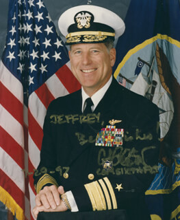Autographs: ADMIRAL CHARLES S. ABBOT - INSCRIBED PHOTOGRAPH SIGNED 07/29/1997