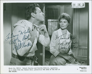 THE DARK AT THE TOP OF THE STAIRS MOVIE CAST - AUTOGRAPHED INSCRIBED PHOTOGRAPH CO-SIGNED BY: DOROTHY McGUIRE, ROBERT PRESTON
