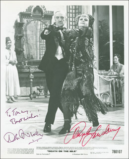 DEATH ON THE NILE MOVIE CAST - AUTOGRAPHED INSCRIBED PHOTOGRAPH CO-SIGNED BY: DAVID NIVEN, ANGELA LANSBURY