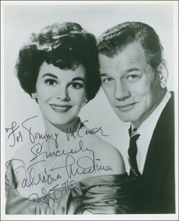 SEVEN WAYS OF LOVE MOVIE CAST - AUTOGRAPHED INSCRIBED PHOTOGRAPH CO-SIGNED BY: JOSEPH COTTEN, PATRICIA MEDINA