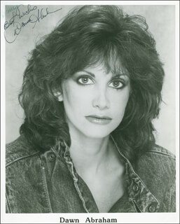 Autographs: DAWN ABRAHAM - INSCRIBED PHOTOGRAPH SIGNED