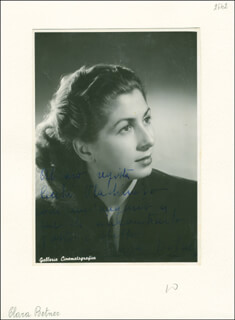 CLARA BETNER - AUTOGRAPHED SIGNED PHOTOGRAPH