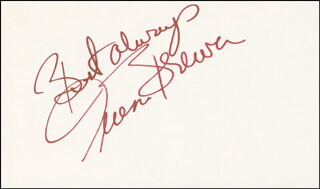 TERESA BREWER - AUTOGRAPH SENTIMENT SIGNED