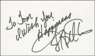 Autographs: JERRY ICEMAN BUTLER - AUTOGRAPH NOTE SIGNED
