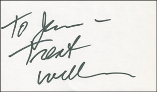 TREAT WILLIAMS - INSCRIBED SIGNATURE