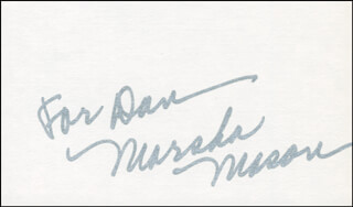 MARSHA MASON - INSCRIBED SIGNATURE