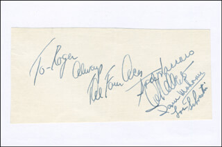 THE FOUR ACES - AUTOGRAPH NOTE SIGNED CO-SIGNED BY: AL ALBERTS, LOU SILVESTRI, DAVE MAHONEY, ROSARIO SOD VACCARO