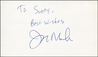 JAY MOHR - AUTOGRAPH NOTE SIGNED