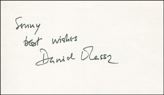 DANIEL MASSEY - AUTOGRAPH NOTE SIGNED