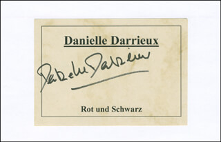 DANIELLE DARRIEUX - PRINTED CARD SIGNED IN INK