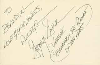 GREGORY SIERRA - AUTOGRAPH NOTE SIGNED