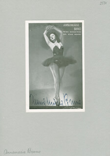 ANNA MARIA BRUNO - AUTOGRAPHED SIGNED PHOTOGRAPH