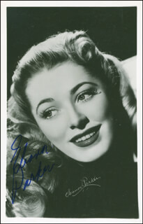 ELEANOR PARKER - PICTURE POST CARD SIGNED