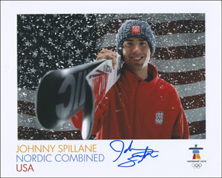 JOHNNY SPILLANE - AUTOGRAPHED SIGNED PHOTOGRAPH